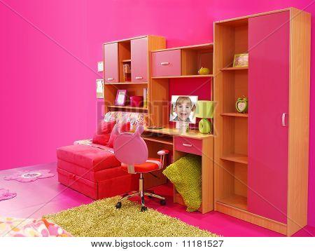children pink room