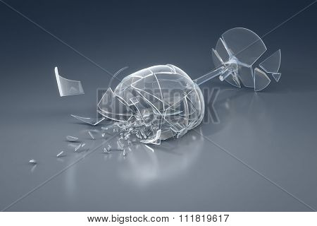 An image of a crushed wine glass
