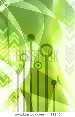 Abstract Techno Background - Green