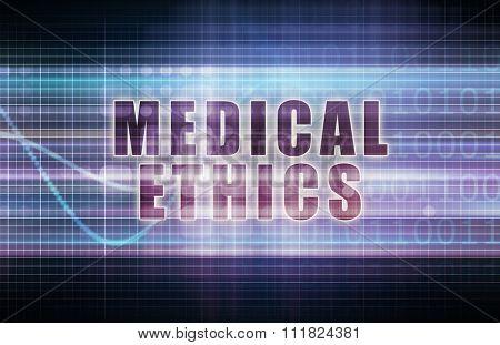 Medical Ethics on a Tech Business Chart Art