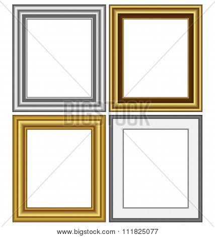 frames isolated on white