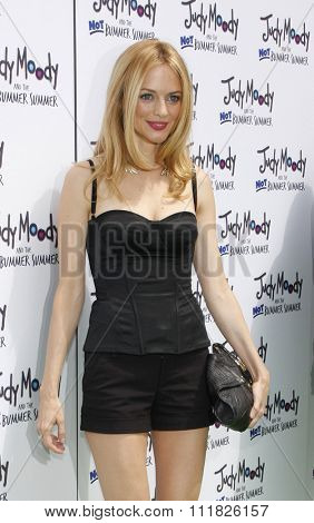 HOLLYWOOD, CALIFORNIA - June 6, 2011. Heather Graham at the Los Angeles premiere of