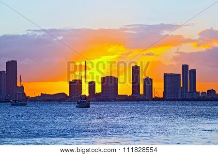 Skyline of Miami Florida