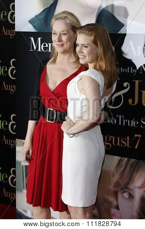 Meryl Streep and Amy Adams at the Los Angeles screening of