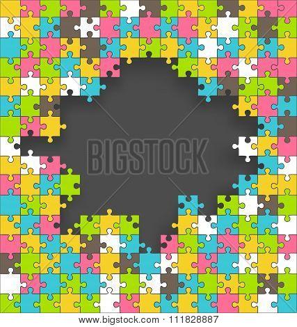Bright Fun Multicolor Contrast Jigsaw Puzzle Background