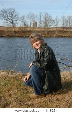 Woman At River'S Edge