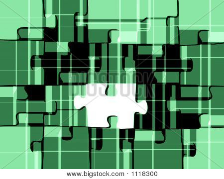 Retro Style Puzzle In Green