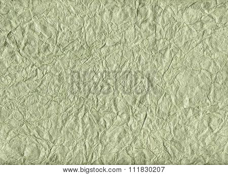 Crumpled pale green velvet paper for backgrounds