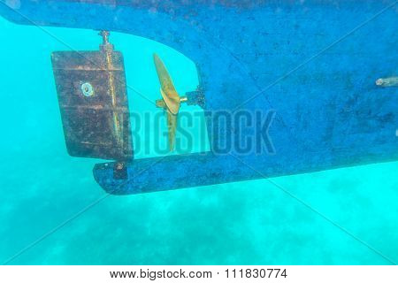 Ship Screw Propeller And Rudder