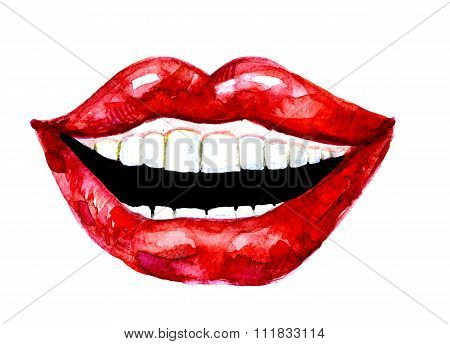 Female Laughing Lips