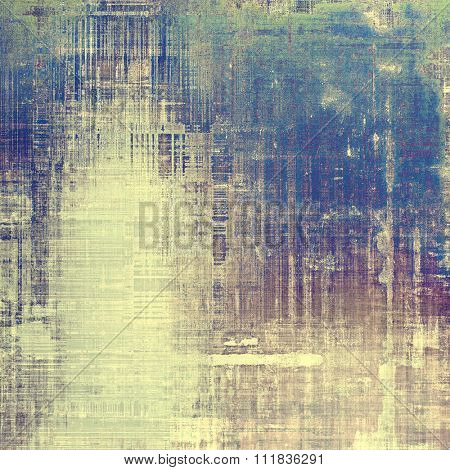 Vintage aged texture, colorful grunge background with space for text or image. With different color patterns: yellow (beige); brown; purple (violet); blue