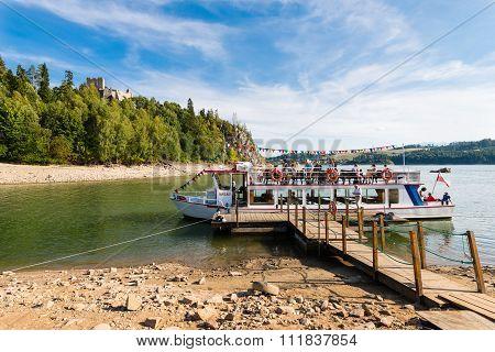 Czorsztyn, Poland - Touris Boat