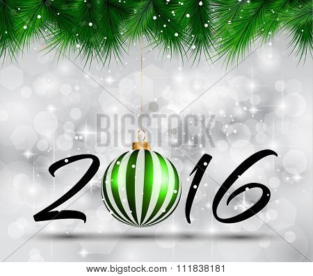 2016 Happy New Year and Merry Christmas Background for Seasonal Greetings Cards, Parties Flyer, Dinner Event Invitations, Xmas Cards and so on.