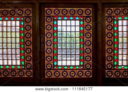 Citadel inside windows stained glass