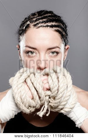Girl With Rope Portrait