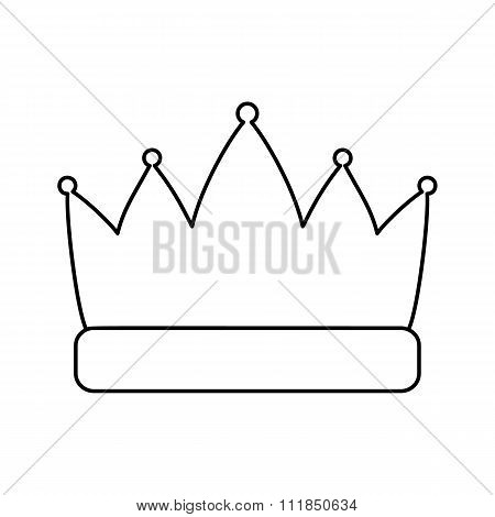 Crown line icon