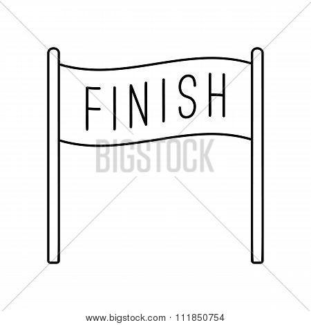 Finish banner line icon