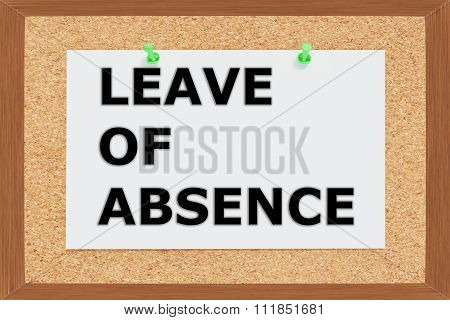 Leave Of Absence Concept