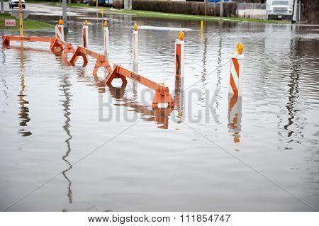 Flooded Transportation Sign