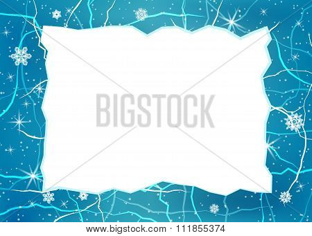 Vector frame from ice.