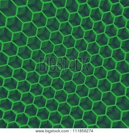 Hexagon green wall
