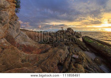 Sunset At Bonzai Rock Pancur Hitam, Labuan FT.