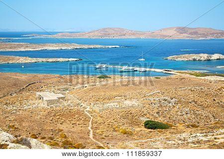 Temple  In Delos Greece The Historycal