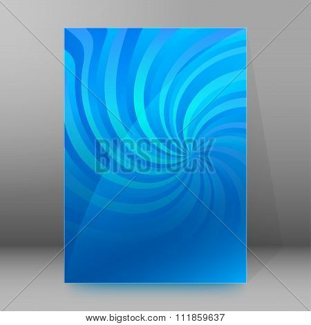 Title Page Layout Brochure Cover Blue Spiral