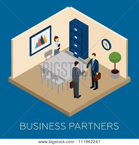 Partnership Concept Isometric