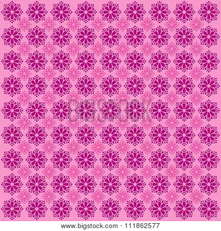 Vintage Flower Pattern Grunge Background