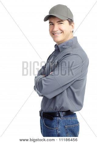 Mature Handsome Worker.