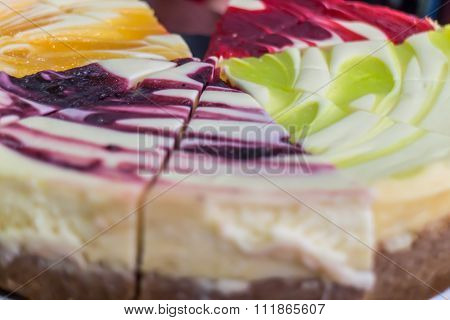Diferent Types Of Cheesecake, Colorful