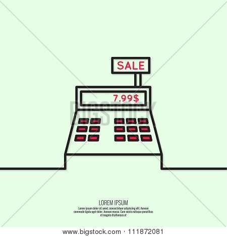 Abstract background with the cash register