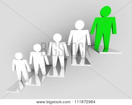 Stairs. Individuality And Leadership Concept