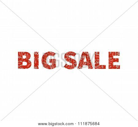 Big Sale Offer Text on White Background