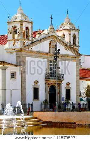 Lagos the historical Santa Maria Church bell tower 2