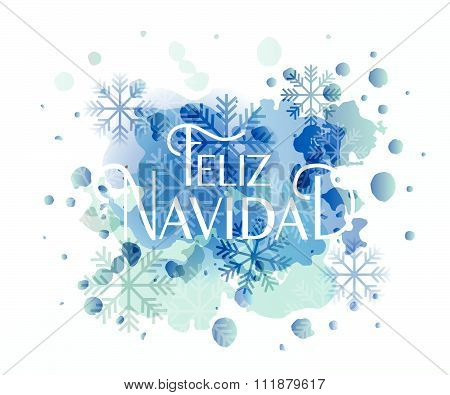 Hand Sketched Feliz Navidad (nappy New Year In Spanish) Logotype, Badge And Icon Typography.