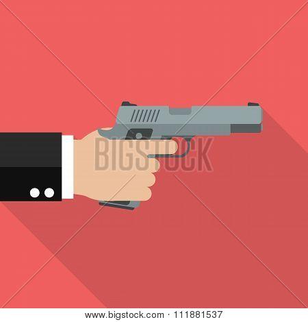 Hand Holding Handgun