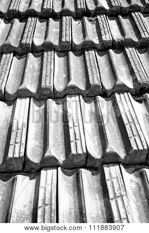 Old Roof In Italy  Texture Of Diagonal Architecture