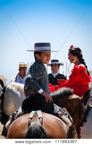 Young Boy On A Horse At The El Rocio Romería,  2012