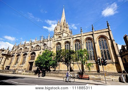 University church of St Mary, Oxford.