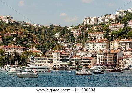 Besiktas from the Bosphorus.