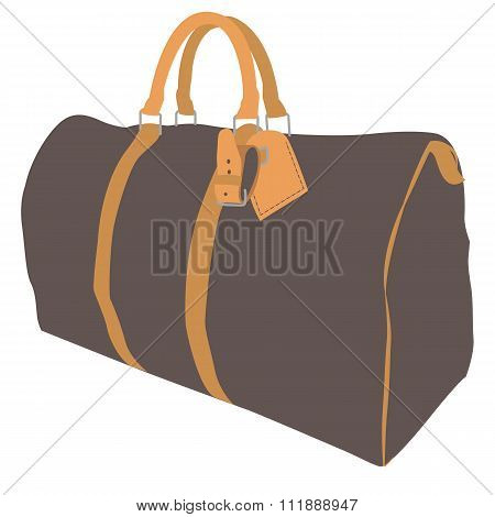 Sport bag ruksack, duffel bag, or sports luggage isolated on a white background