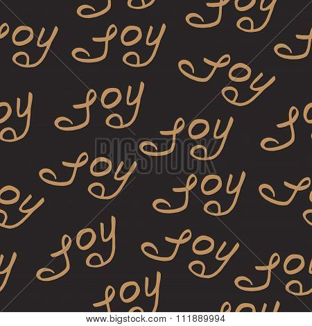 seamless pattern joy christmas calligraphy
