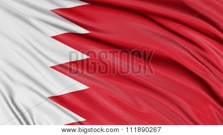 3D Flag of Bahrain with fabric surface texture