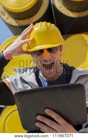 Builder under stress