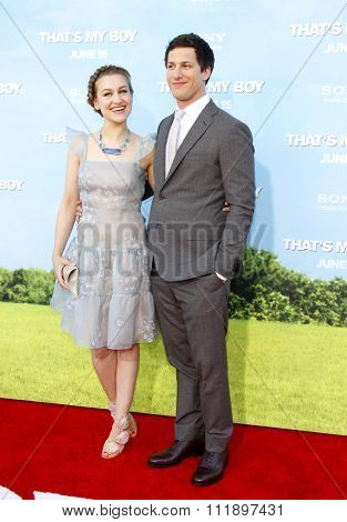 Andy Samberg and Joanna Newsom at the Los Angeles premiere of