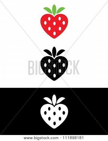 Vector Strawberry Set
