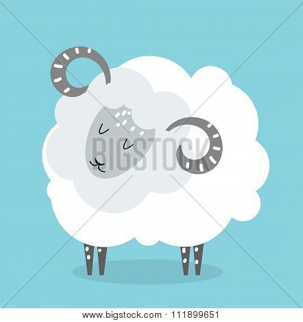 Cute cartoon cow vector illustration
