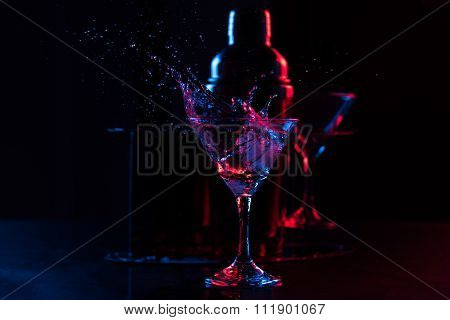 cocktail with splashes